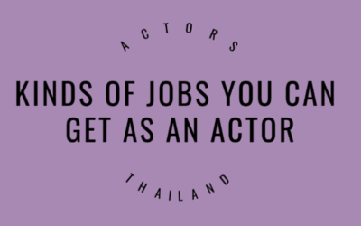 Kinds of jobs you can get as an actor