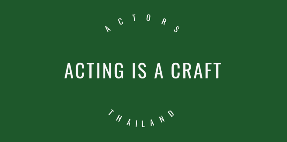 Acting is a craft