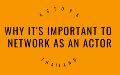 Why it's important to network as an actor